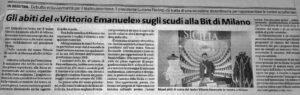 """Gli abiti del """"Vittorio Emanuele"""" sugli scudi alla Bit di Milano"""