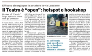 """Il Teatro è """"open"""": hotspot e bookshop"""