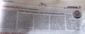 RadioStreet Messina, nata web si trasforma in Fm
