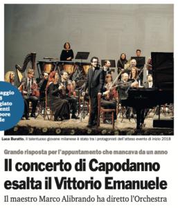 Il concerto di Capodanno esalta il Vittorio Emanuele