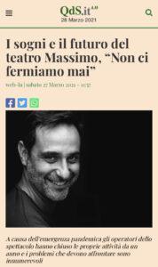 """I sogni e il futuro del teatro Massimo, """"Non ci fermiamo mai"""""""